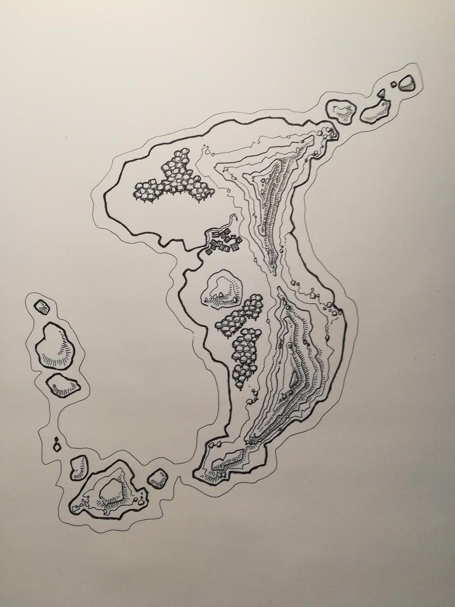 Mountainous-Island-map